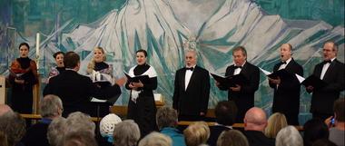 The Voskresenije Choir singing at Llandeilo during October